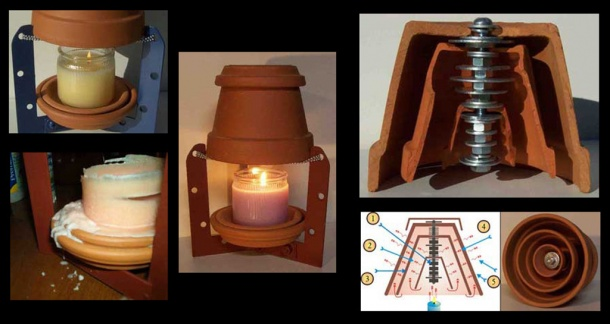 Как обогреться свечой