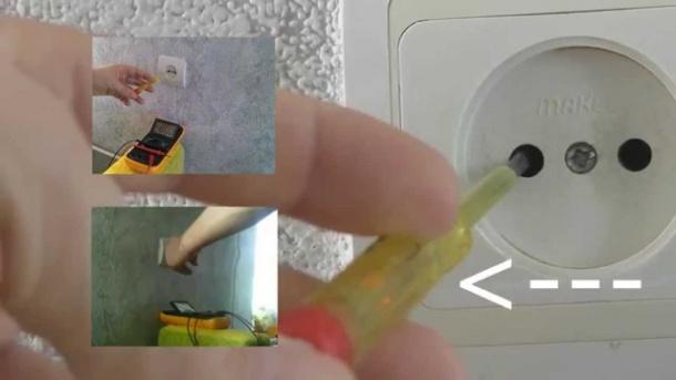 Как проверить отсутствие напряжения в розетке мультиметром или индикаторной отверткой