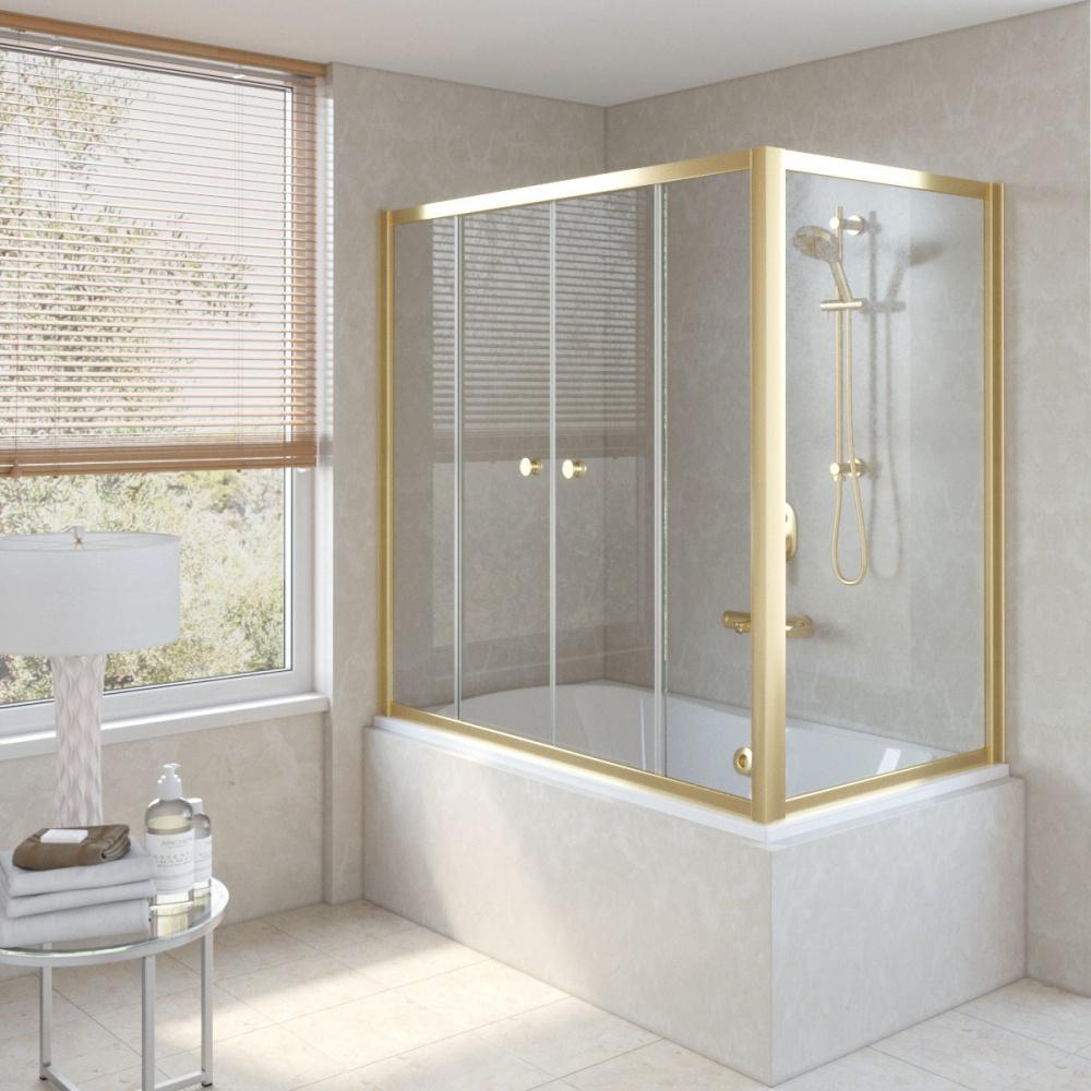 Раздвижные шторки - практичное и стильное решение для ванной комнаты.