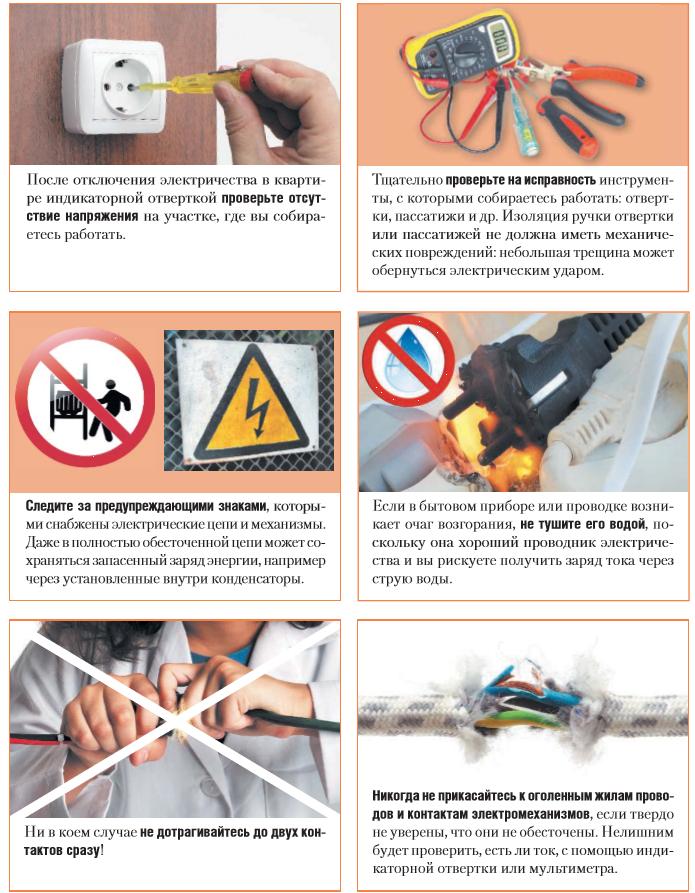 Техника безопасности при работе с электричеством