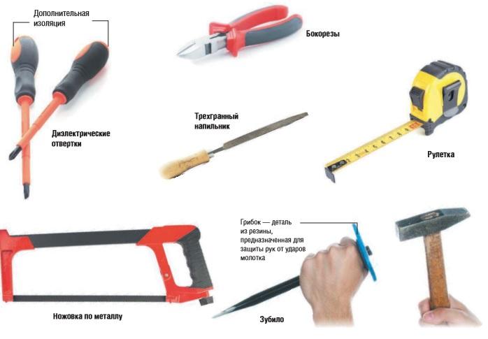 Какие нужно иметь инструменты для электромонтажных работ