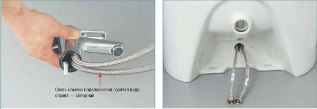 Подключение однорычажного смесителя - инструкция.