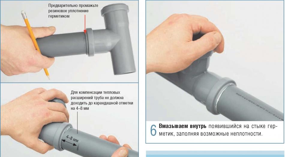 Монтаж трубопроводов системы канализации