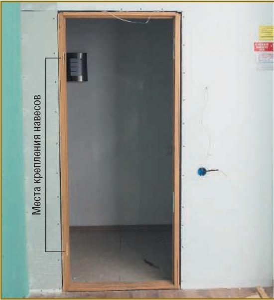 Установка межкомнатной двери поэтапно