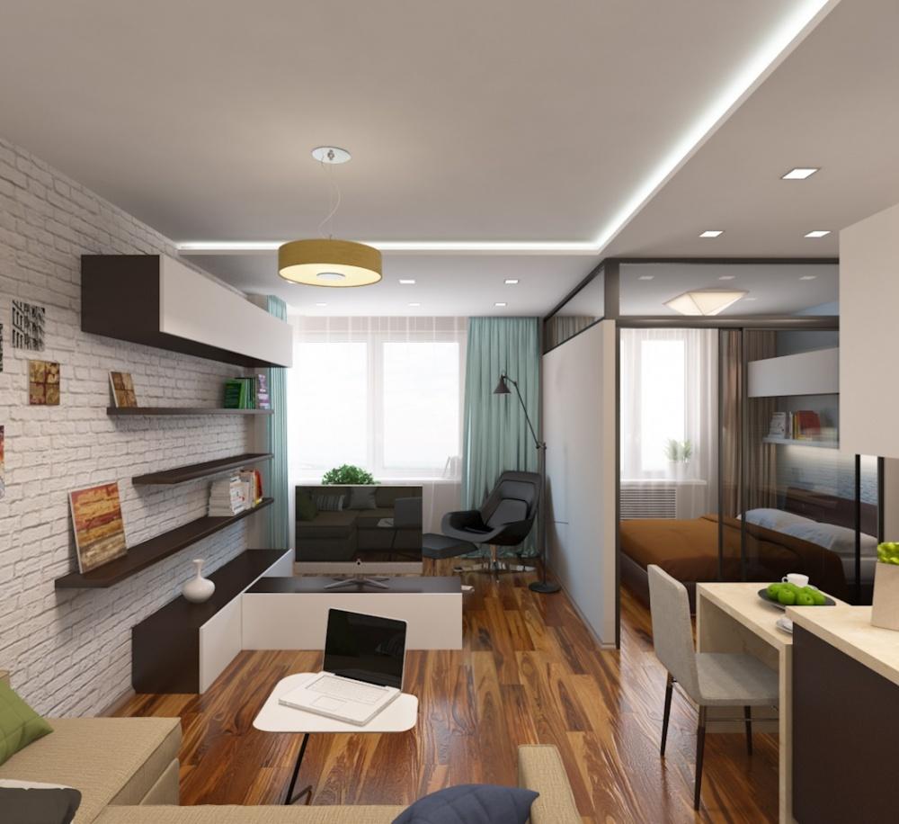 Увеличение пространства в однокомнатной квартире