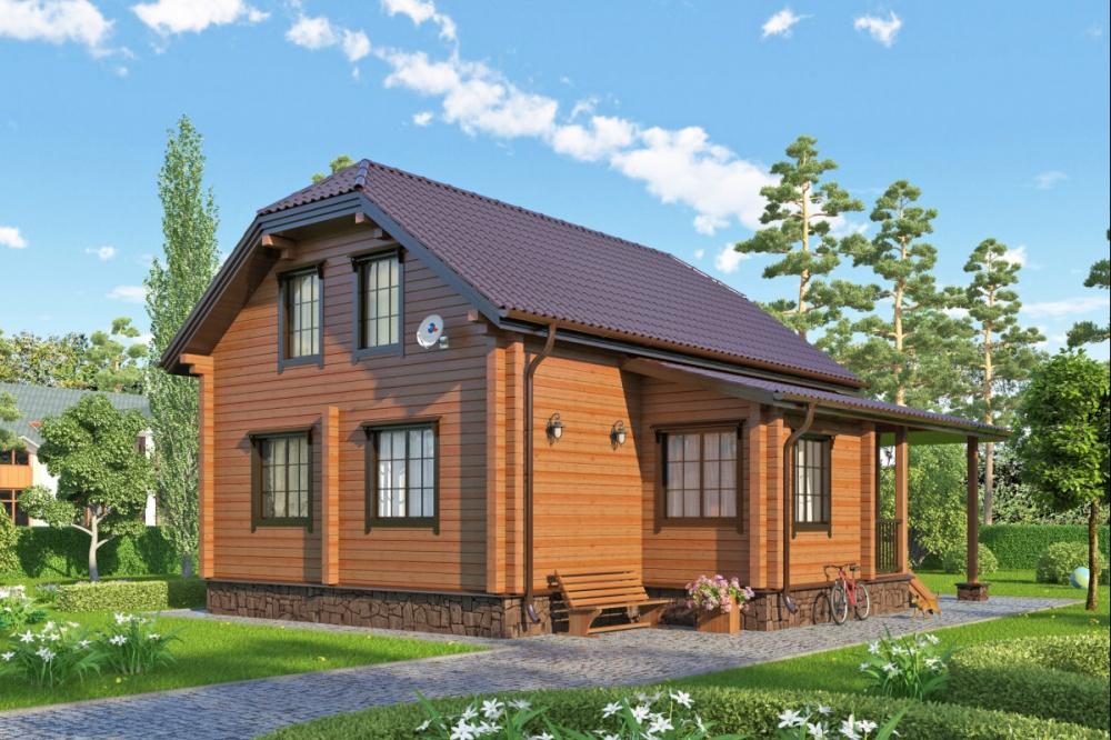 Деревянный теплый дом - залог успешности хозяев